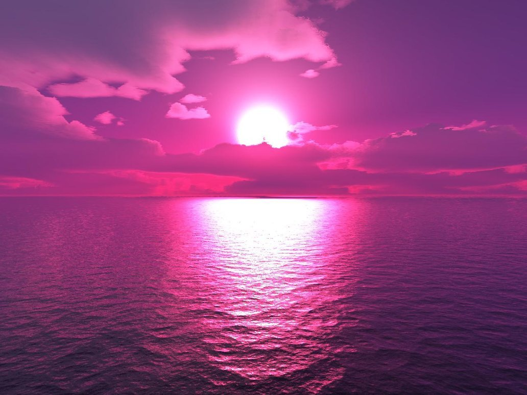 Light Pink Sunset Wallpaper