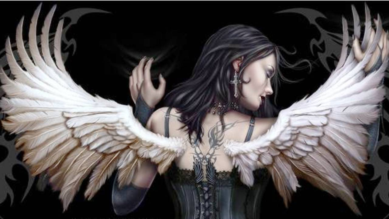 50 angel wallpaper for cell phone on wallpapersafari - Gothic wallpaper for phone ...