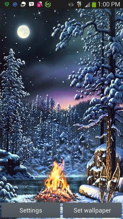 Christmas Fire Live Wallpaper   screenshot 506x900