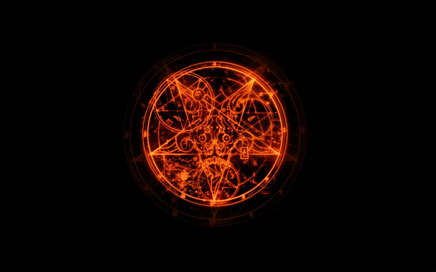 Inverted Pentagram Wallpaper 1440x900