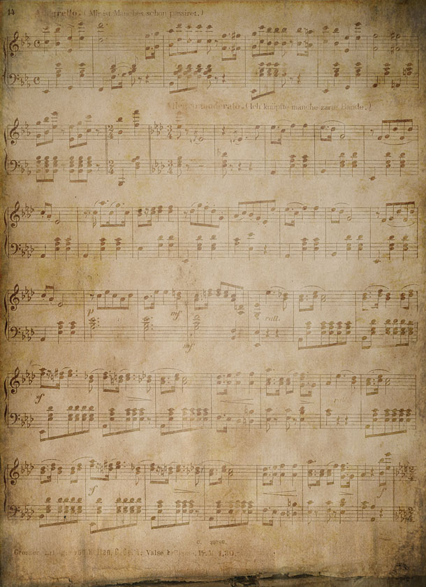 Vintage Music Paper 610x840