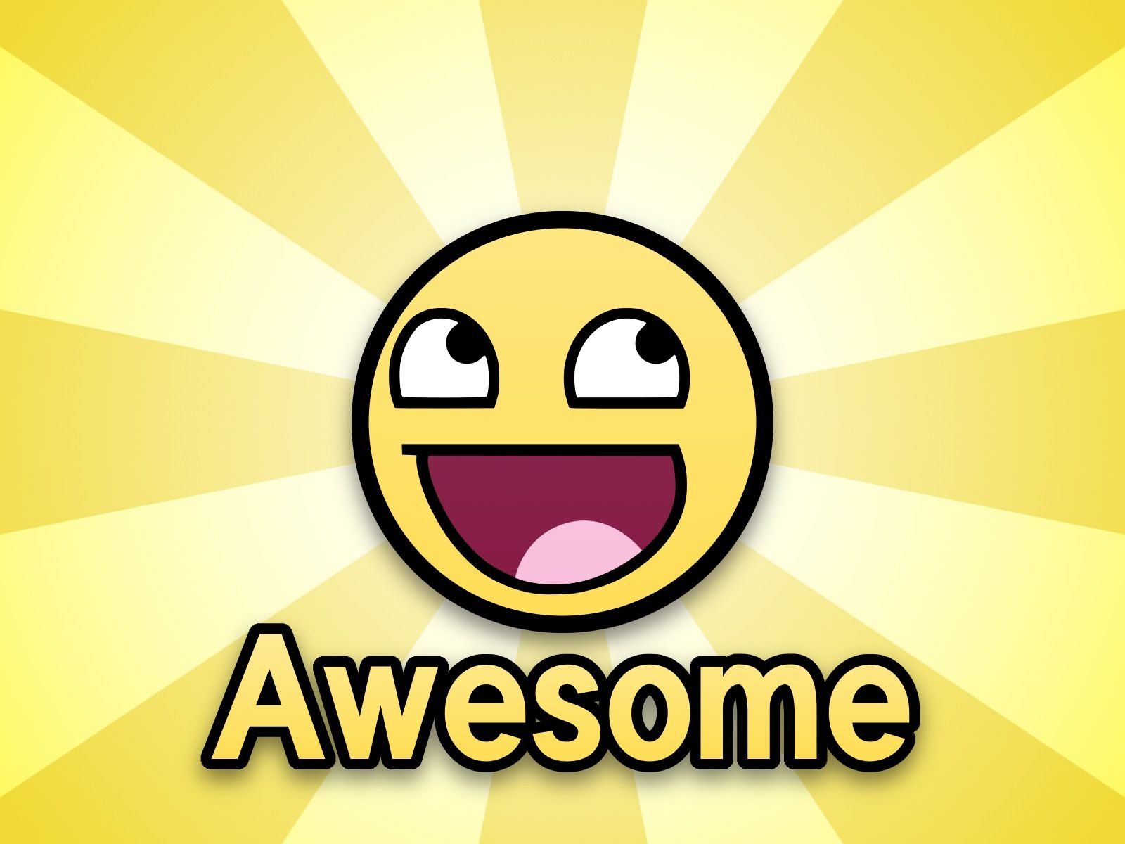 smiley awesome beams cool cute face meme nice smiley wallpaper yellow 1600x1200
