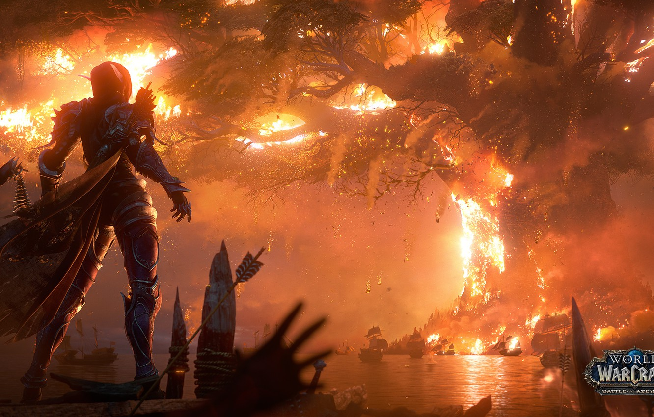 Wallpaper fire flame fire flame undead Teldrassil undead 1332x850