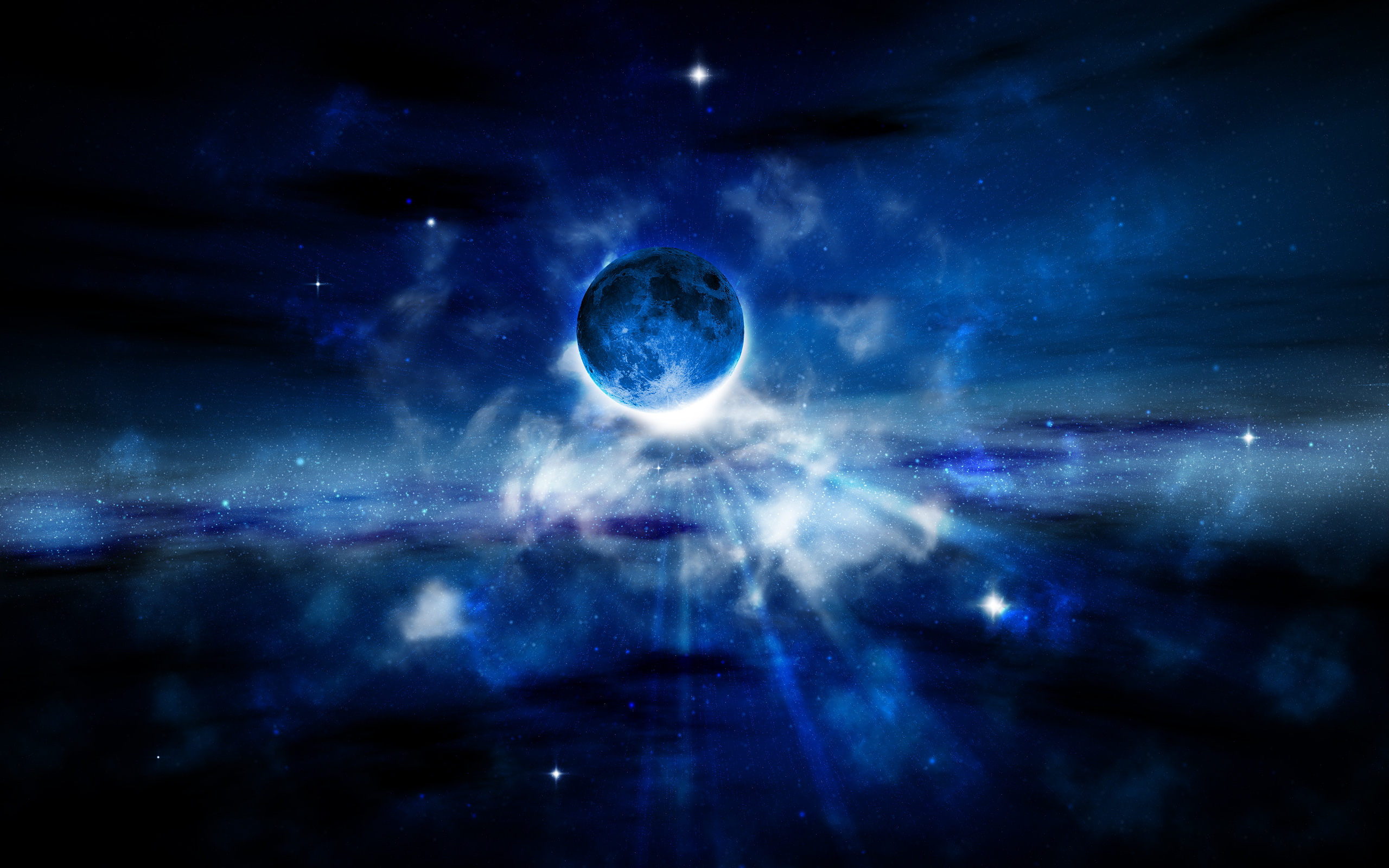 Pictures hd wallpapers 1440x900 space 3d fantasy blue space hd desktop 2560x1600