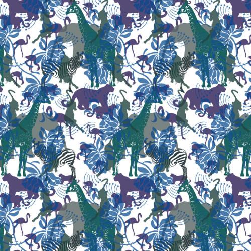 Wild Animals Wallpaper   Silk Interiors Wallpaper 500x500