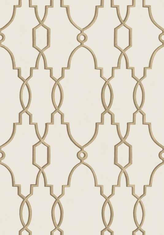 Parterre Trellis Wallpaper A delicate trellis design inspired by the 534x766