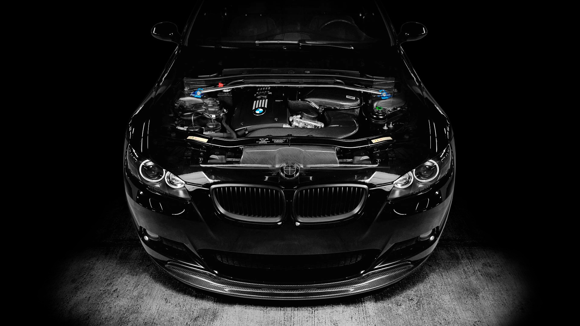 Black BMW M3 E92 Wallpaper HD 1920x1080