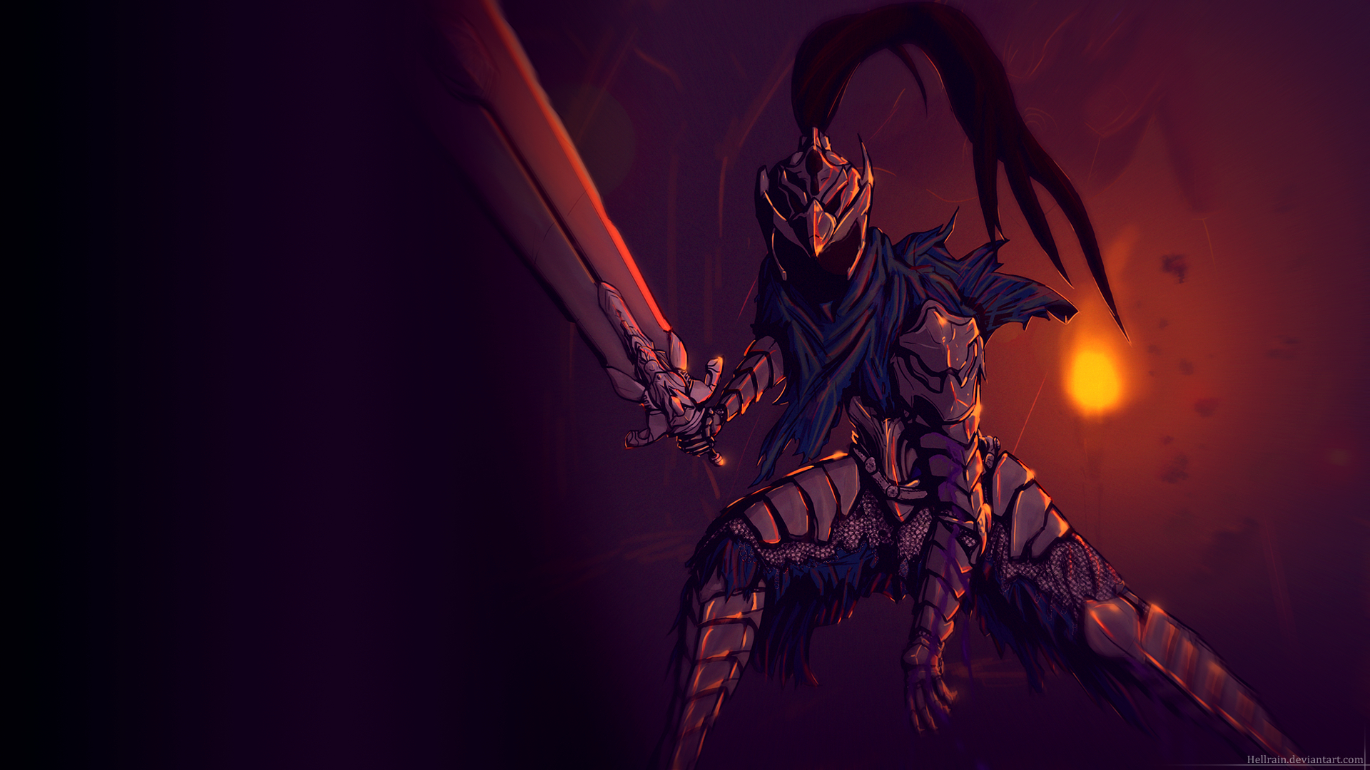 Wallpaper   Artorias of the Abyss 1920x1080 by Hellrain on 1920x1080