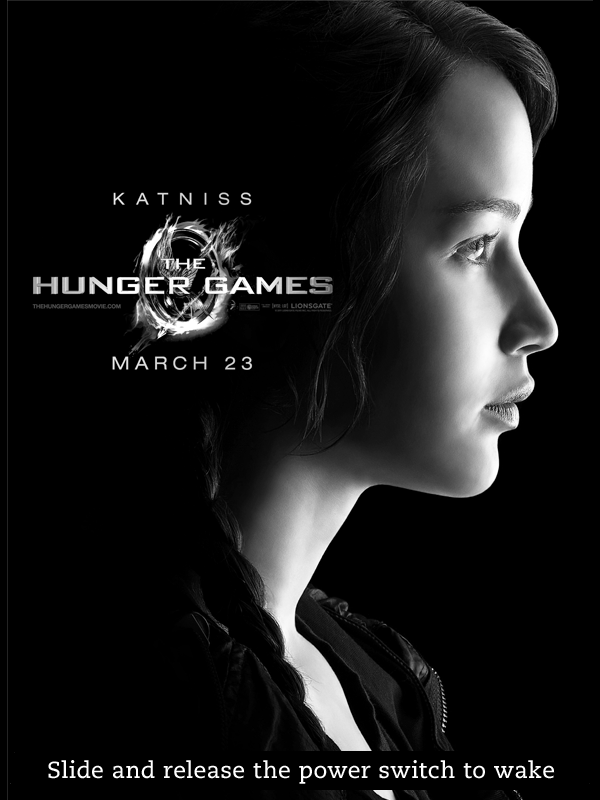 Kindle Screensaver Katniss Hunger Games by SongOrSuicide on 600x800