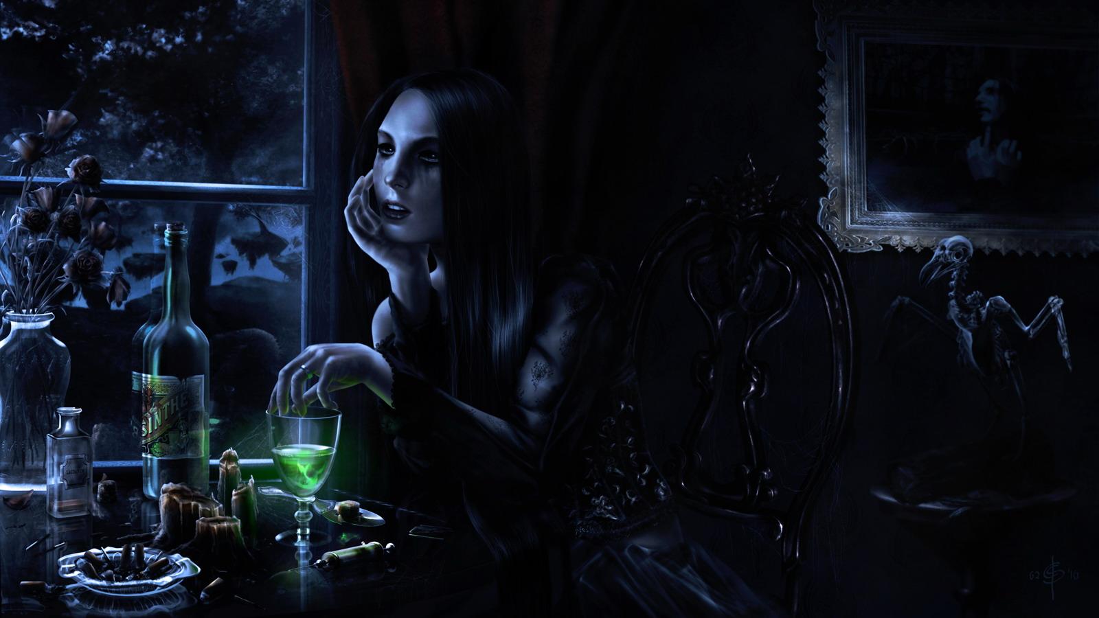 Gothic vampire wallpaper 1600x900 28451 WallpaperUP 1600x900