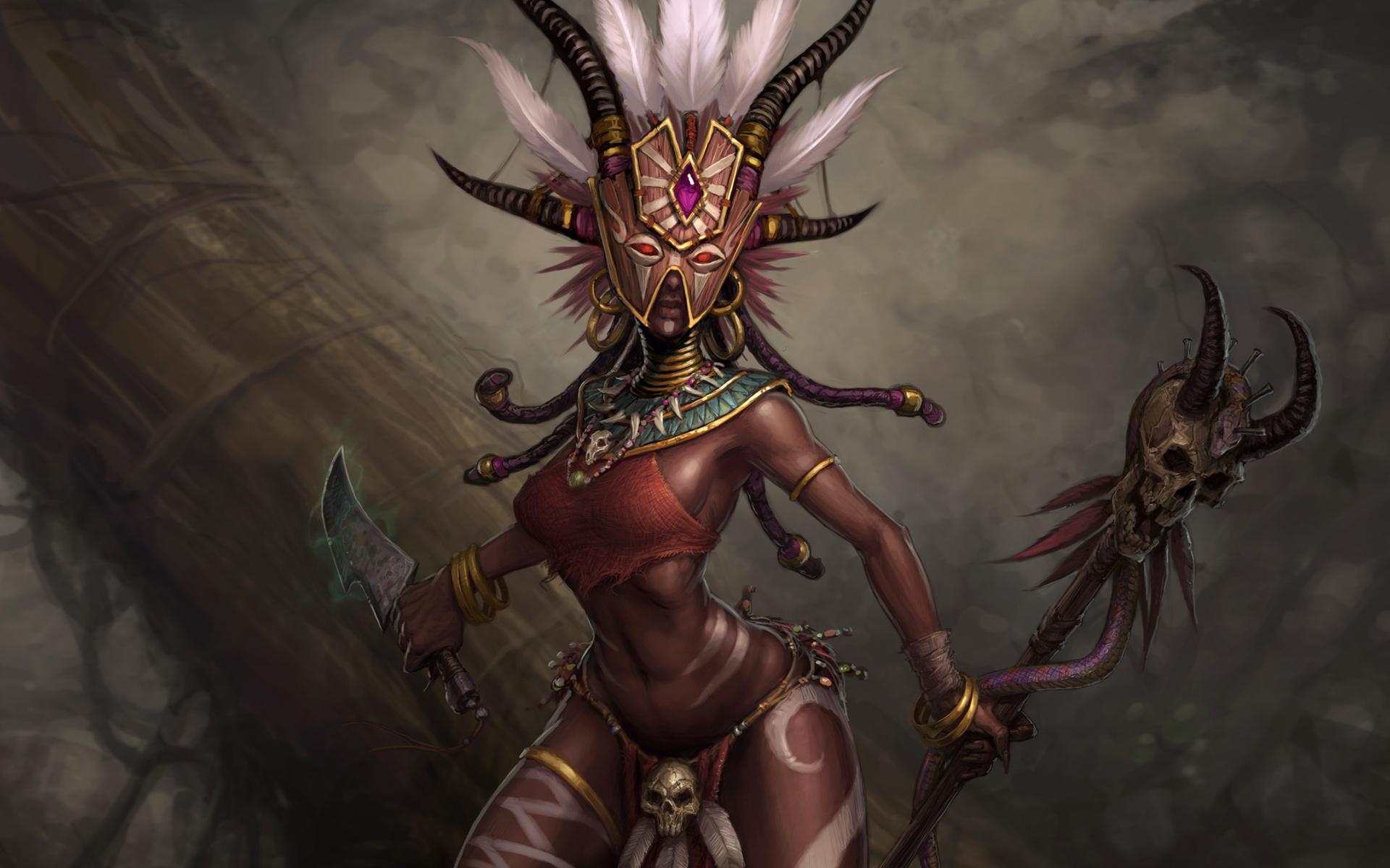 Diablo 3 Wallpaper 1920x1080: Diablo 3 Witch Doctor Wallpaper
