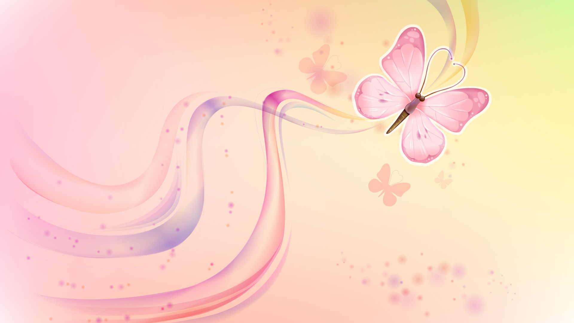 Butterfly Vector Design Background HD Wallpaper of Vector 1920x1080
