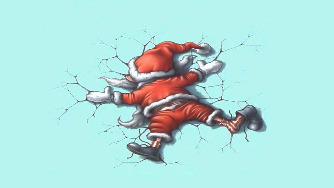 77] Funny Christmas Wallpaper on WallpaperSafari 1136x640