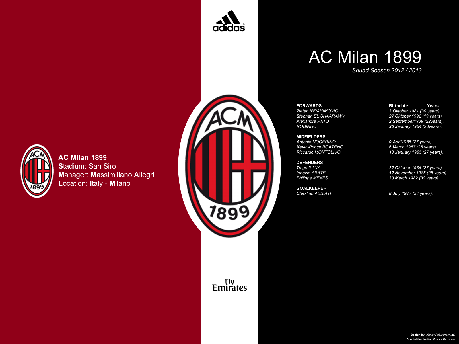 AC Milan Football Club Wallpaper Football Wallpaper HD 1600x1200