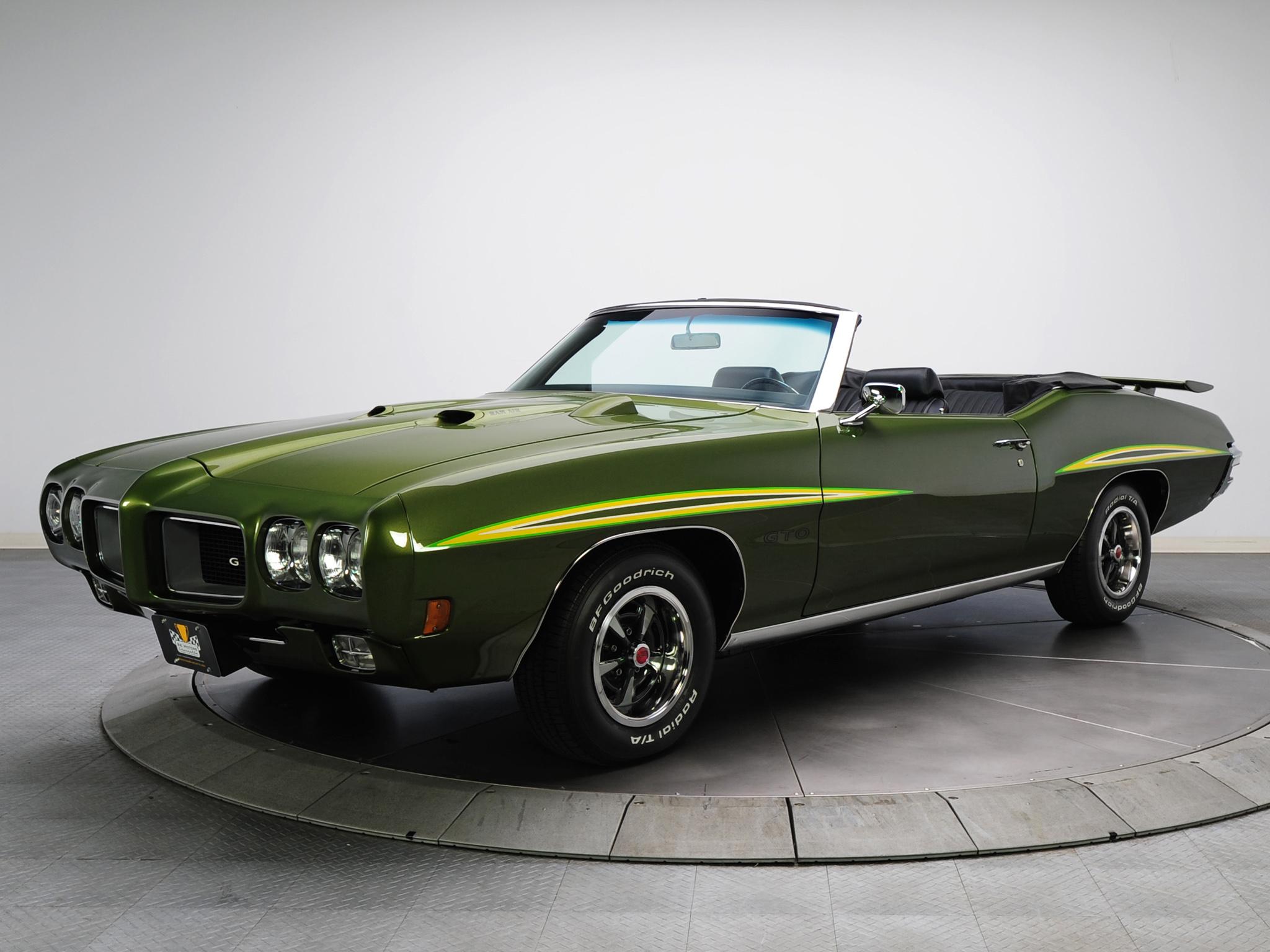 1970 Pontiac GTO Judge Convertible 4267 muscle classic h wallpaper 2048x1536
