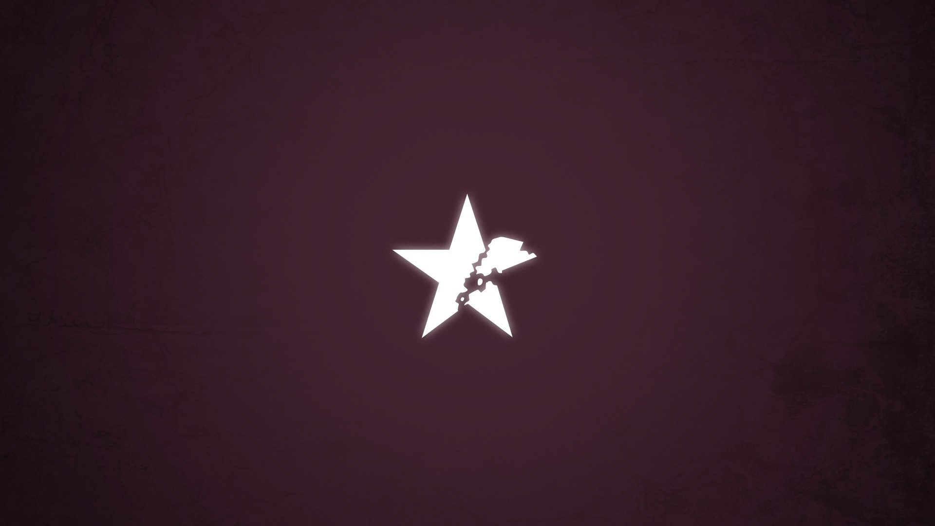 minimalistic stars broken vector symbol insane black rock shooter 1920x1080