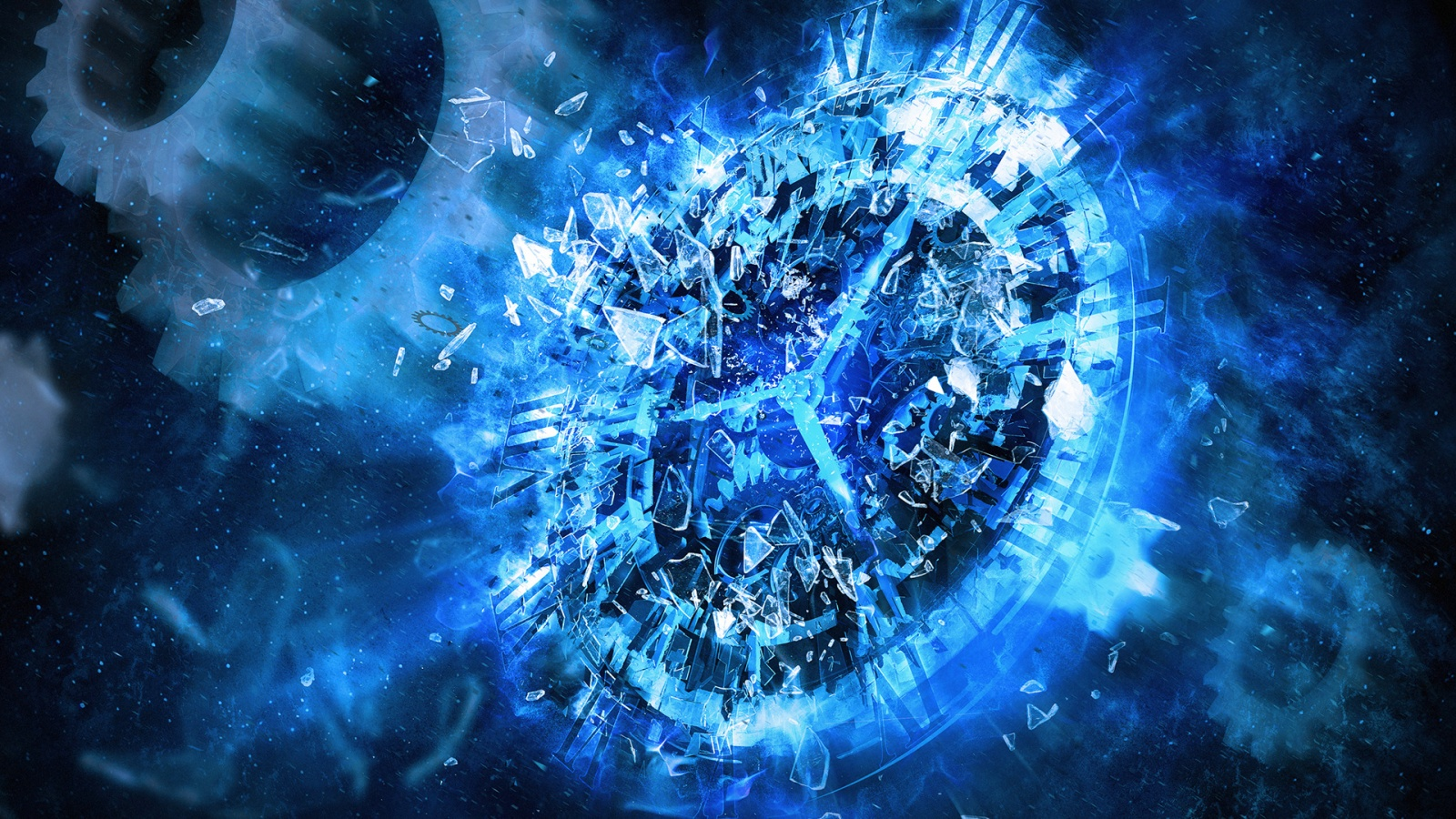 Free Download Cool Blue Abstract Wallpapers 1600x900 For Your