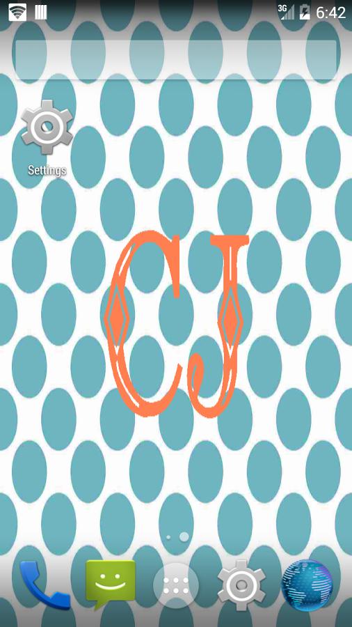 beautiful monogram wallpaper with our monogram wallpaper maker we 506x900
