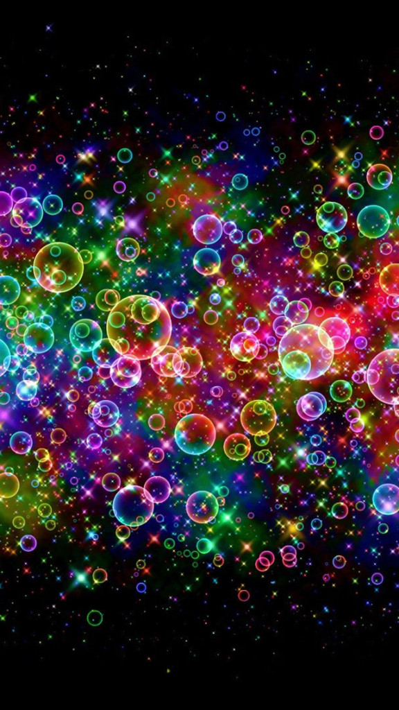 Neon Light Bubbles iPhone 6 6 Plus and iPhone 54 Wallpapers 576x1024