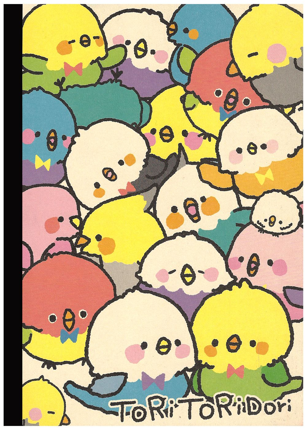 Kamio Tori Tori Rainbow Birds B5 Notebook Kawaii Cute art 1000x1400