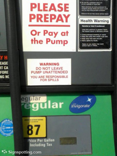 BP pump labeling we are indeed responsible for spills Such irony 375x500