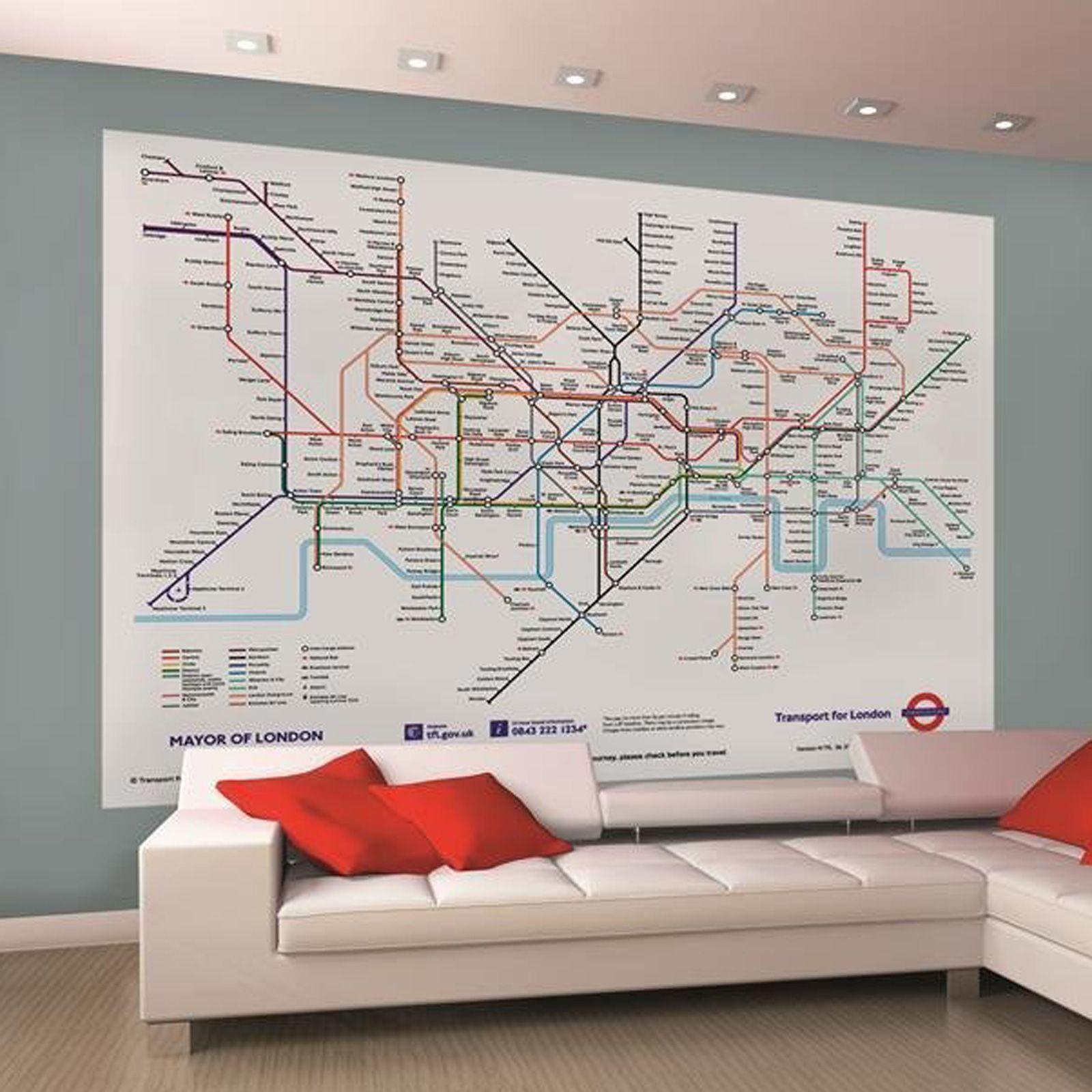 Subway Map Wall Art Wall Art Stickers Wall Decal Huge Underground Tube Map.41 London Underground Wallpaper On Wallpapersafari