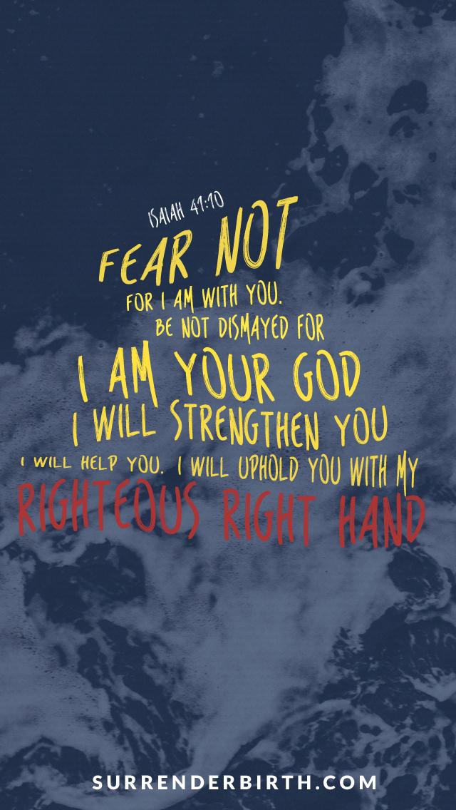 Verse of the Week Isaiah 4110   Surrender Birth 640x1136