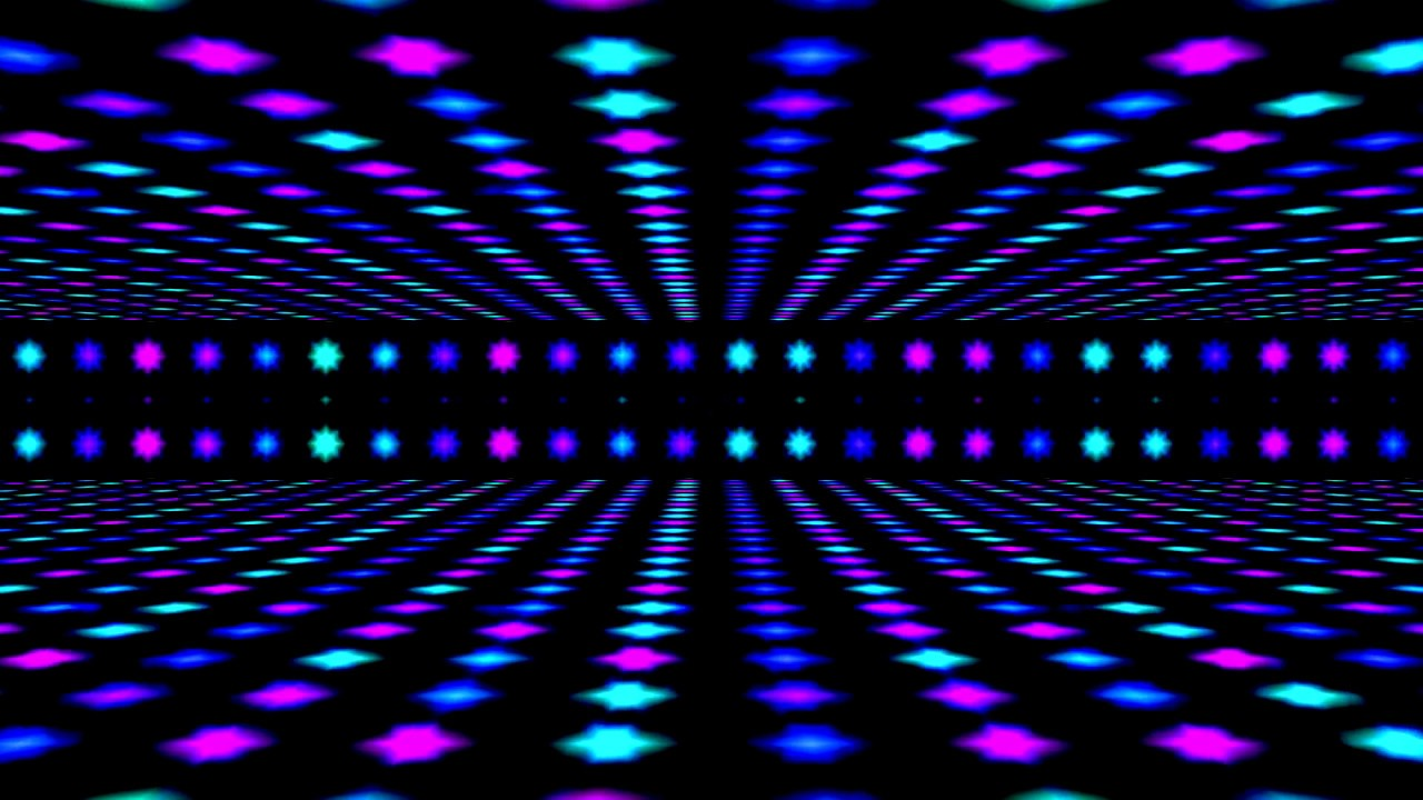 DanceFloor Party Lights Video Background FREE HD 1280x720