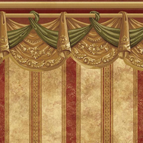 Swag Curtain Wallpaper Wallpapersafari