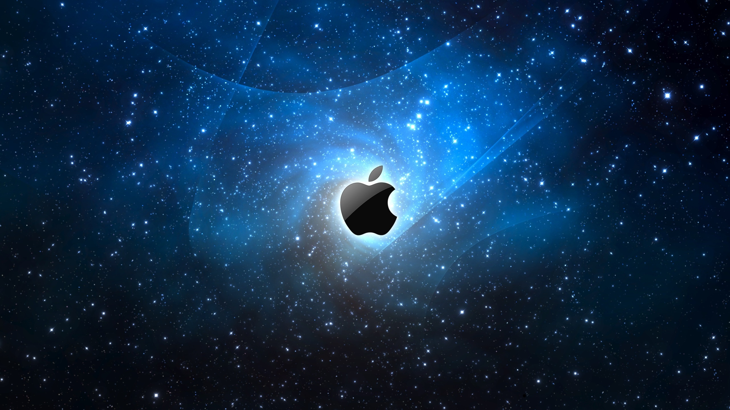 2560x1440 Space Apple logo desktop PC and Mac wallpaper 2560x1440