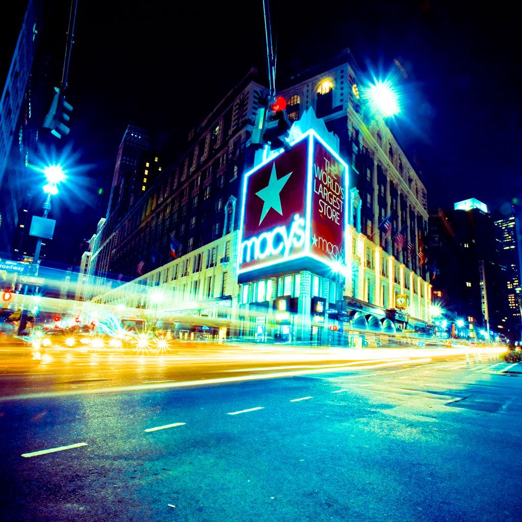 New York City Lights by Jens Karlsson iPad wallpaper 1024x1024