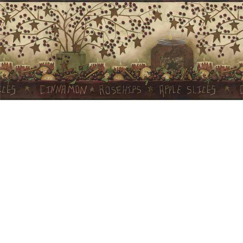 Potpourri Wallpaper Border   Rustic Country Primitive 800x800