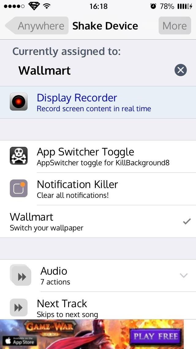 feel to assign wallpaper changes using all of the methods above 640x1136