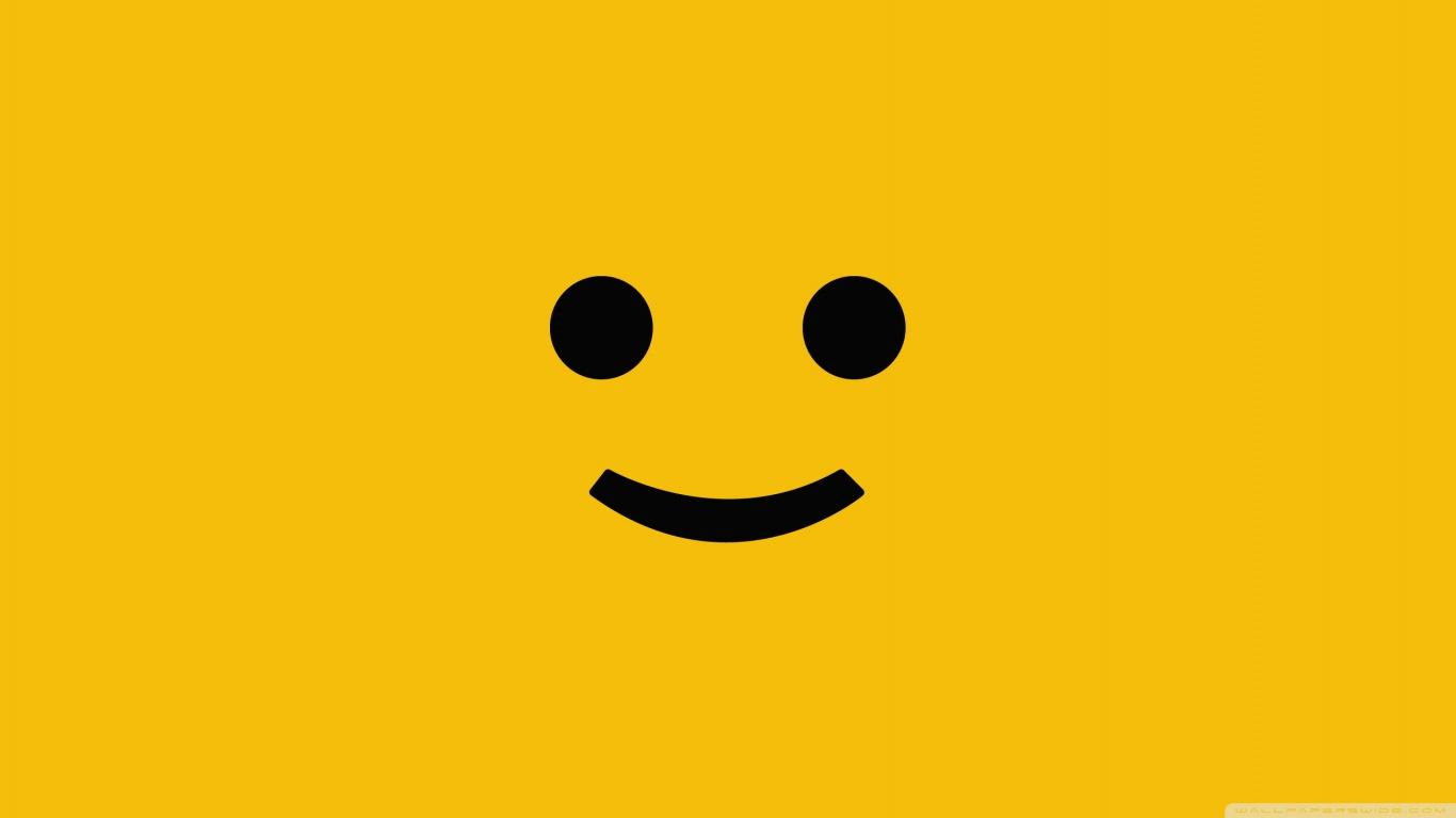 25 Cute Smiley Faces 1366x768