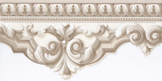 Interior Place   Beige Crown Molding Wallpaper Border 1299 http 640x322
