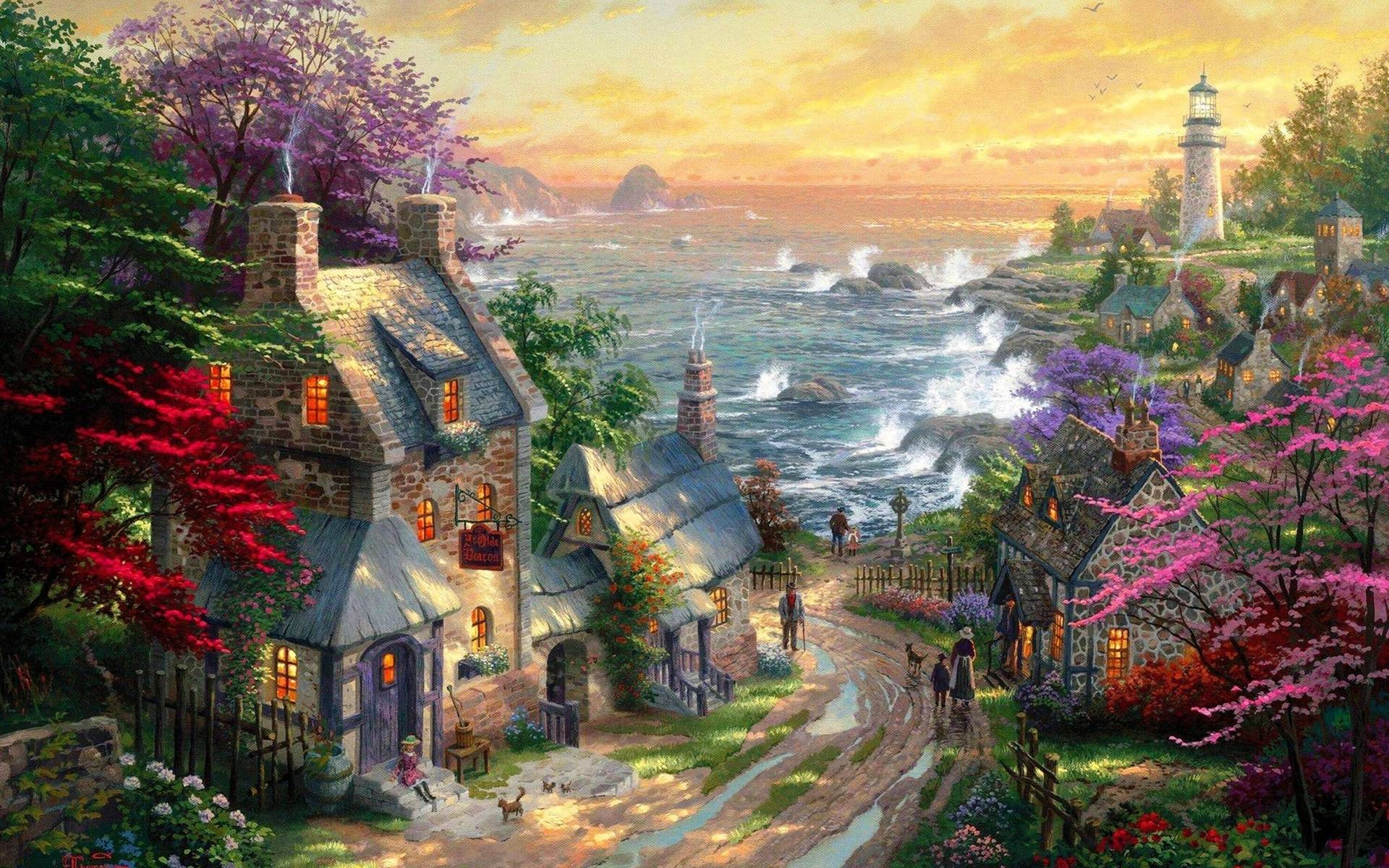 Wallpapers For Thomas Kinkade Disney Dreams Collection Wallpaper 1920x1200