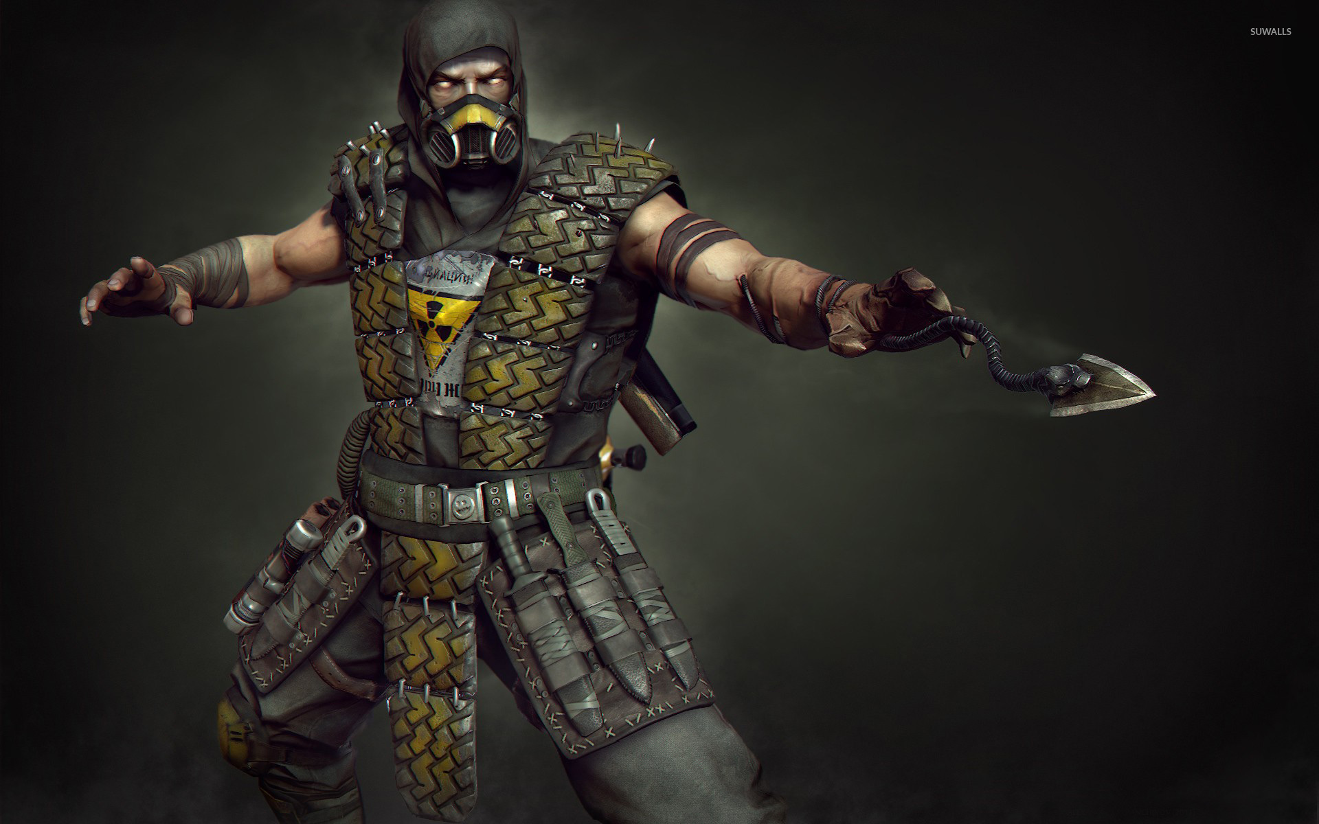 scorpion in mortal kombat hd wallpaper 4068 1280x800