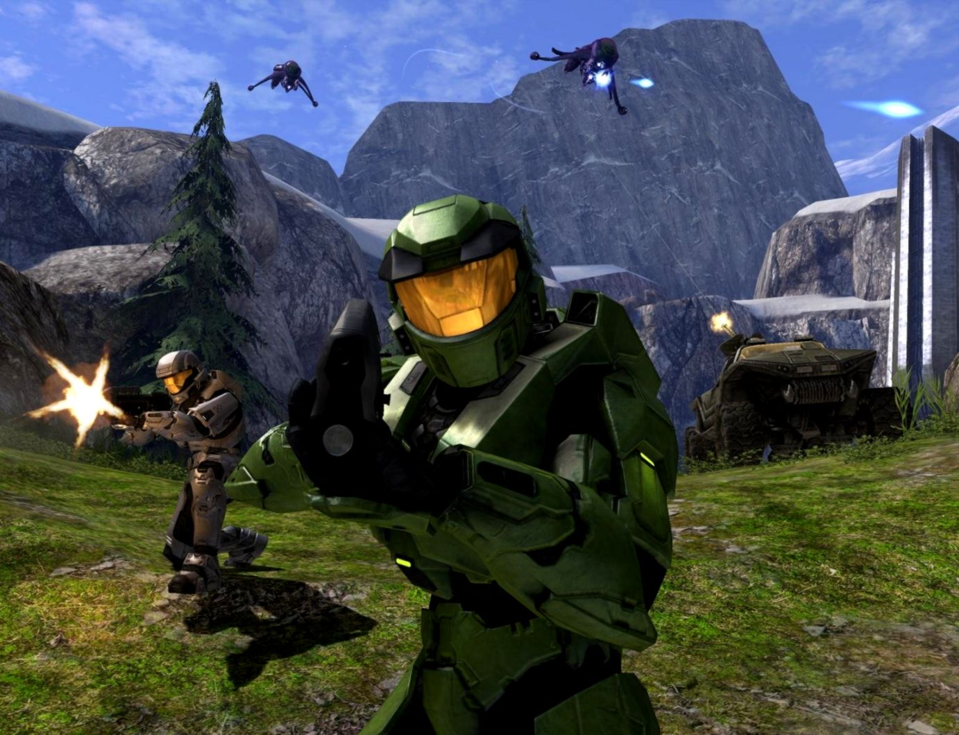 Halo 1 Combat Evolved Hd Wallpaper Wallpapers Sheet 1382x1059