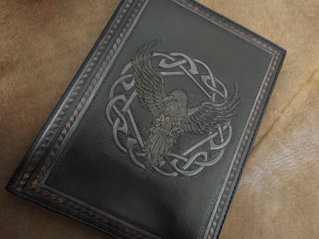 leather tooled book raven by CreationsMJF 1024x768