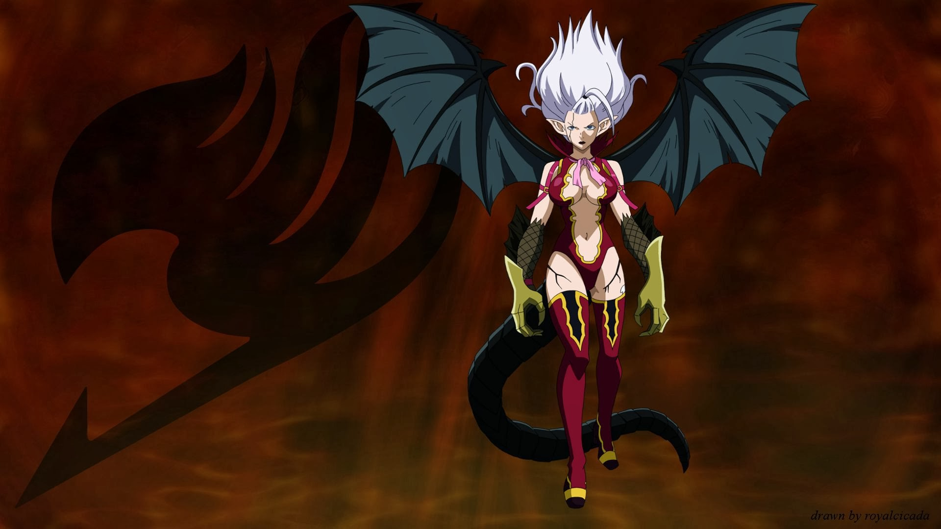 mirajane strauss satan soul wallpaper hd fairy tail anime demon girl 1920x1080