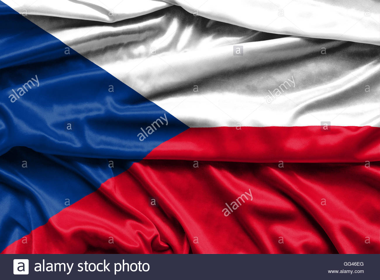 Flag of the Czech Republic   fabric background wallpapers Stock 1300x957