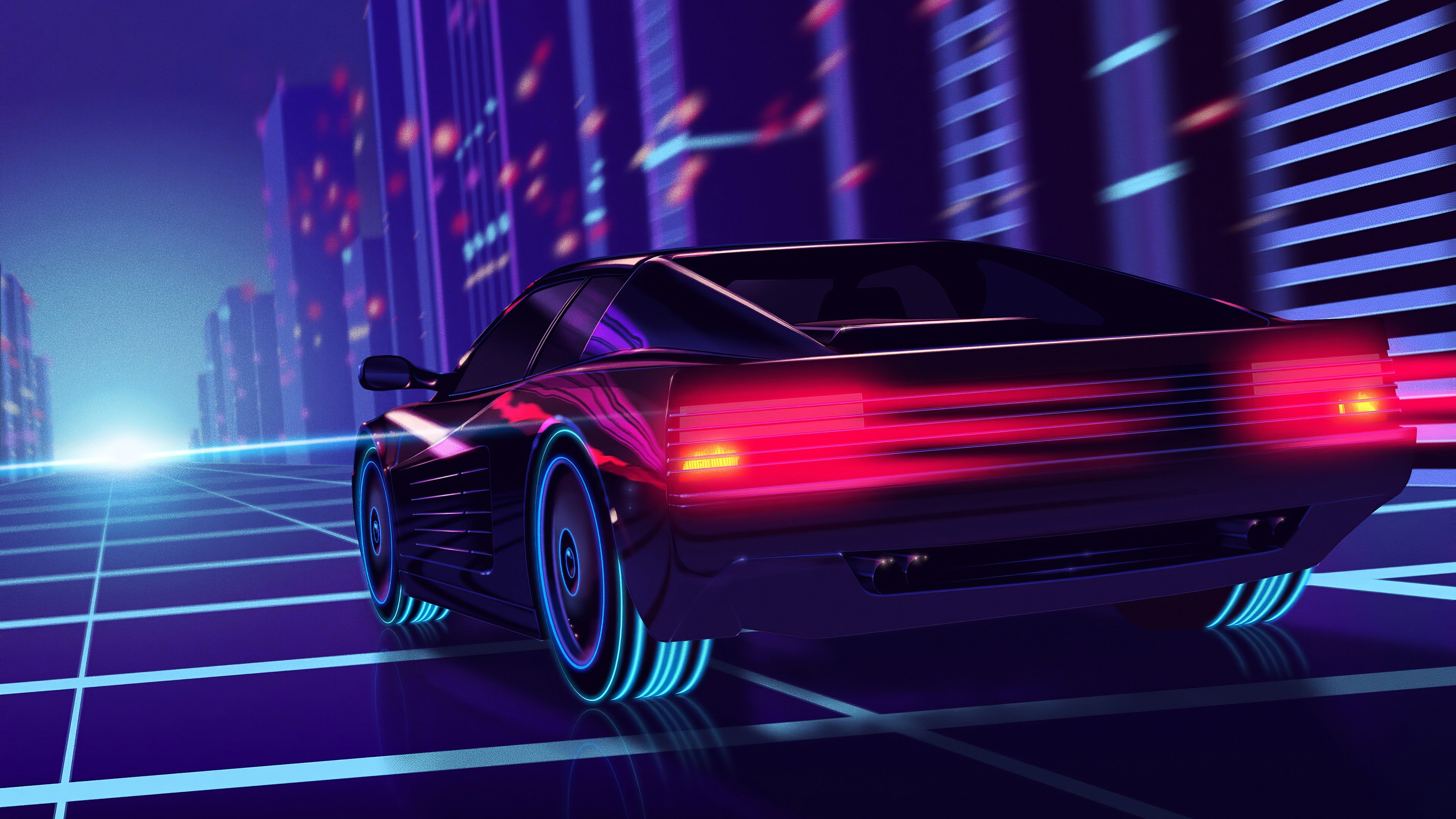 retrowave 4K wallpapers for your desktop or mobile screen and 3840x2160