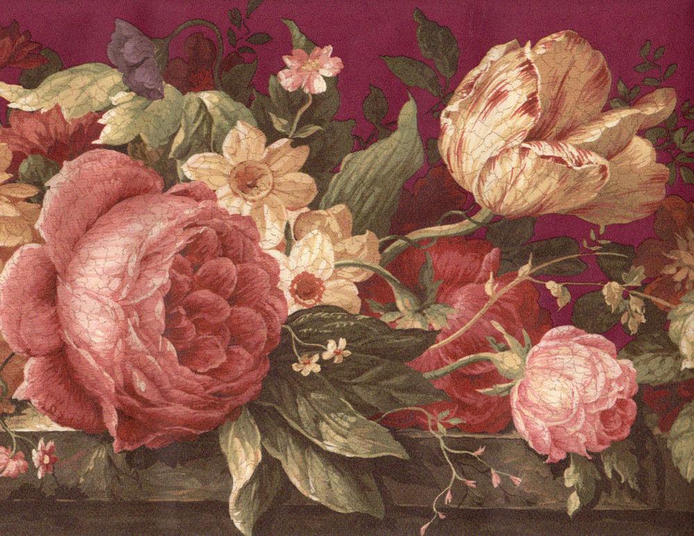 Cabbage Rose Wallpaper Wallpapersafari