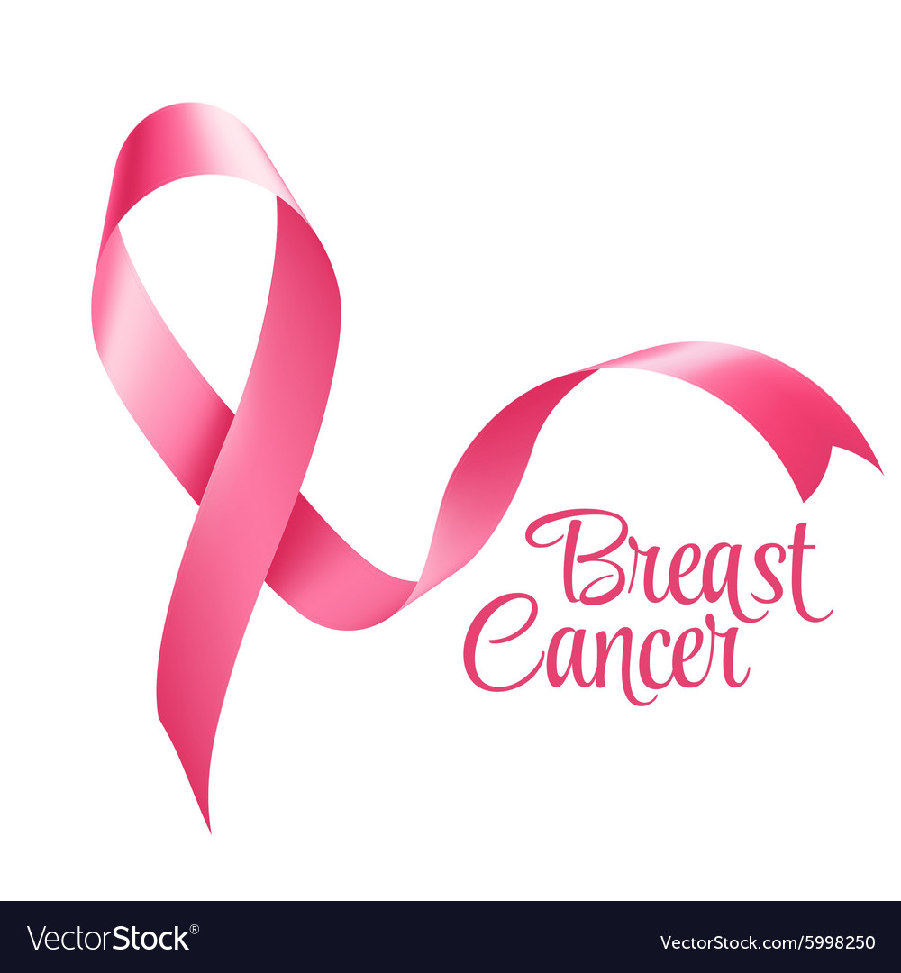 Breast Cancer Awareness Ribbon Background Vector Image 1000x1080