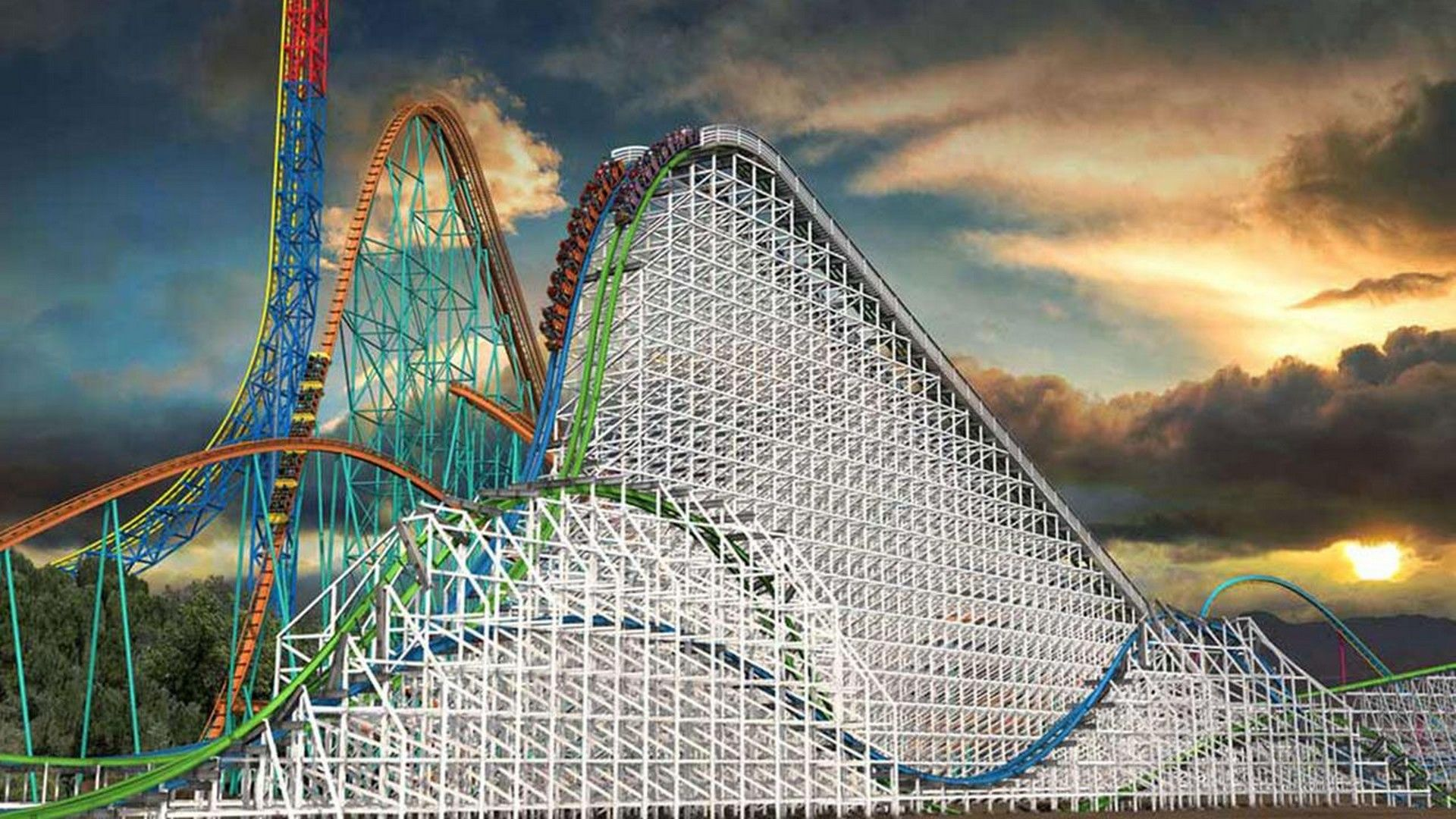 HD Six Flags Magic Mountain wallpaper Faves At Six Flags Magic 1920x1080