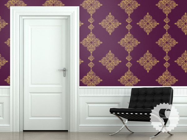 wallpaper in this purple and gold color shown called Royal Purple 600x450