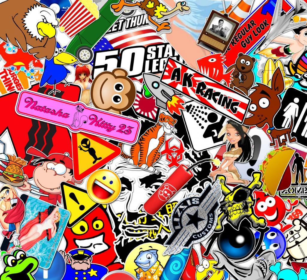 Honda sticker bomb wallpaper jdm sticker bomb 1024x933