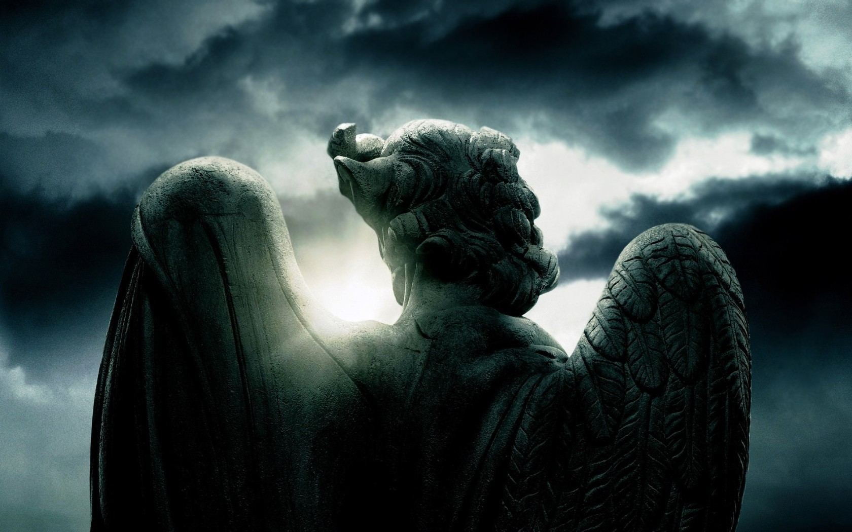 Download Angel statue wallpaper 1680x1050