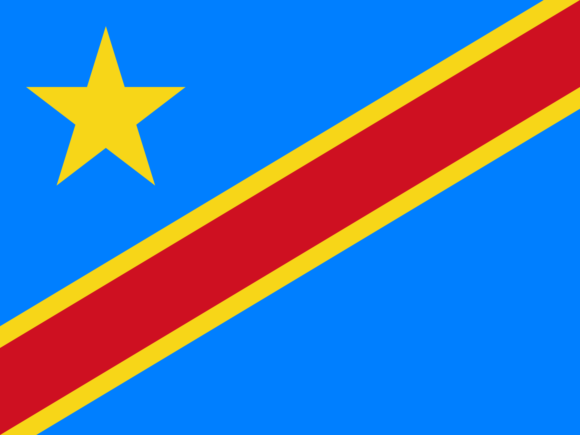 Wallpaper Of The Flag Of The Democratic Republic Of The Congo 2000x1500