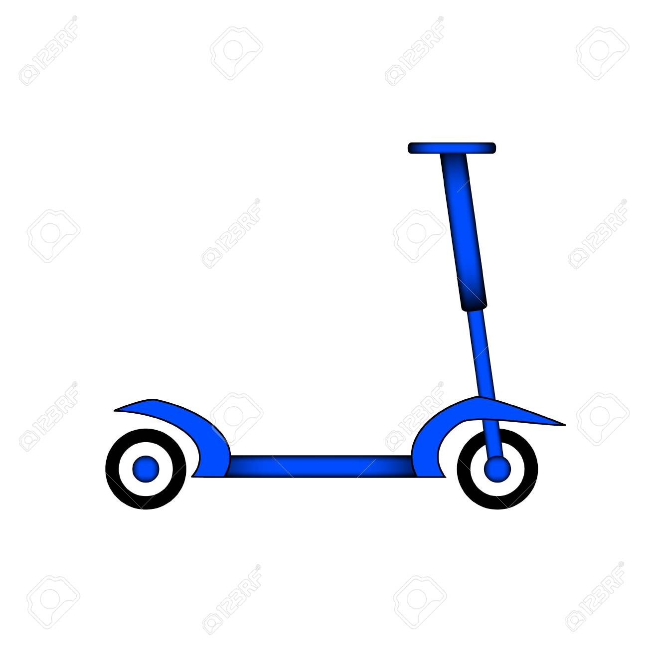 Kick Scooter Icon On White Background Vector Illustration 1300x1300